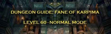 Dungeon Guide Label - Fane of Kaprima - Normal